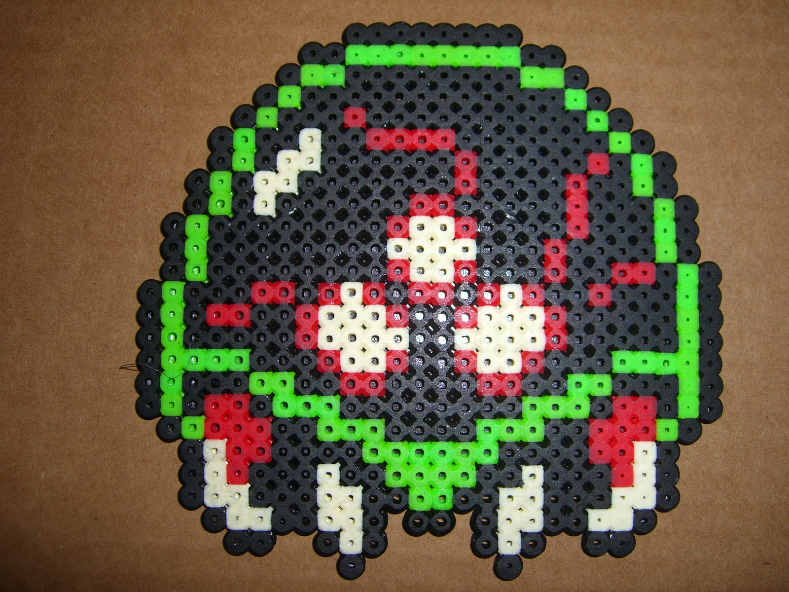 metroid NES bead sprite by zaghrenaut