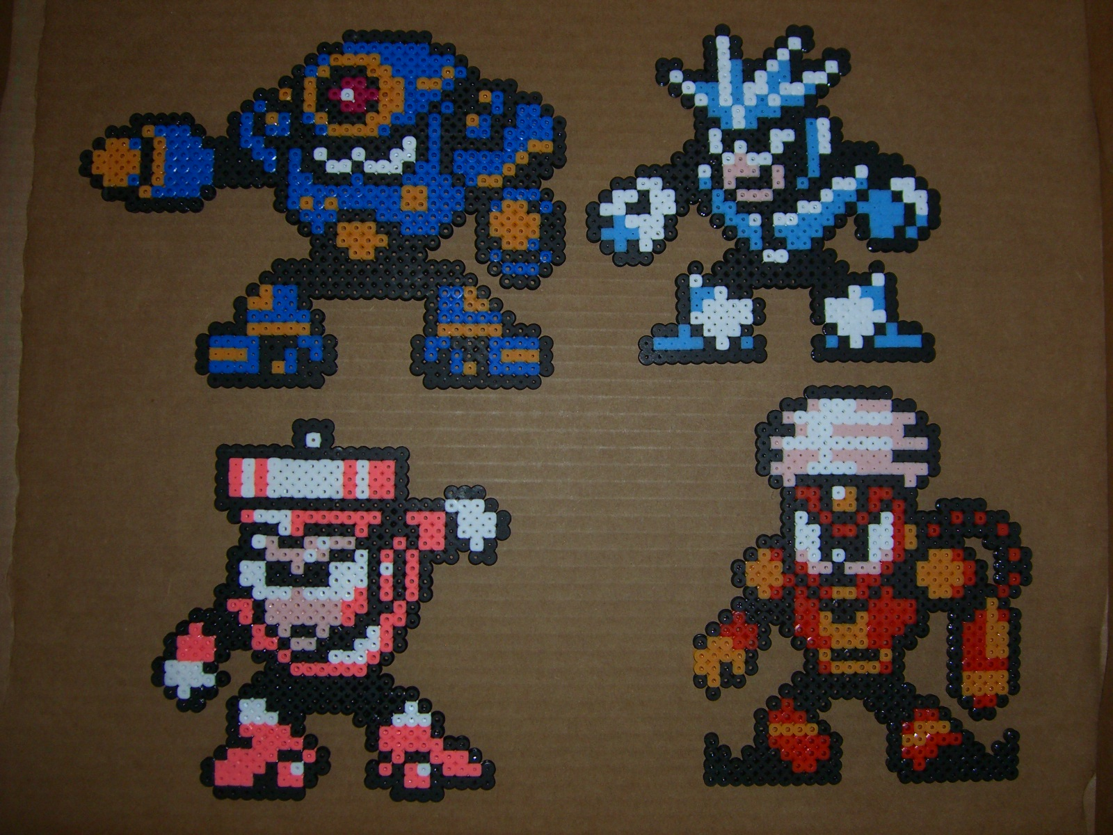 Megaman bead bosses 6 by zaghrenaut