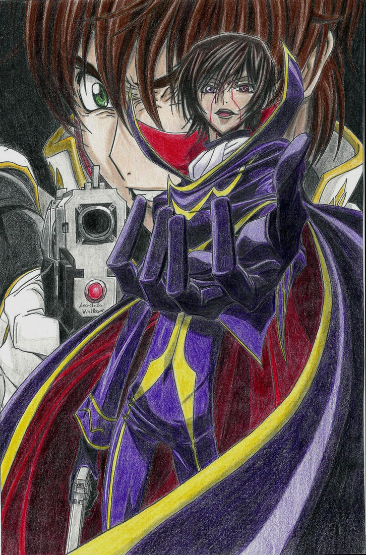 Lelouch and Suzaku (Code Geass) by ShadowofChaos666