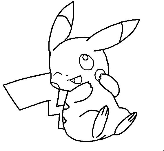 Pikachu Base by 254Mewx on DeviantArt