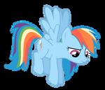 Rainbow Dash Hovers
