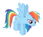 Rainbow Dash Hovers