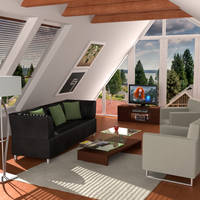 Attic Living Room by AndiDrajan