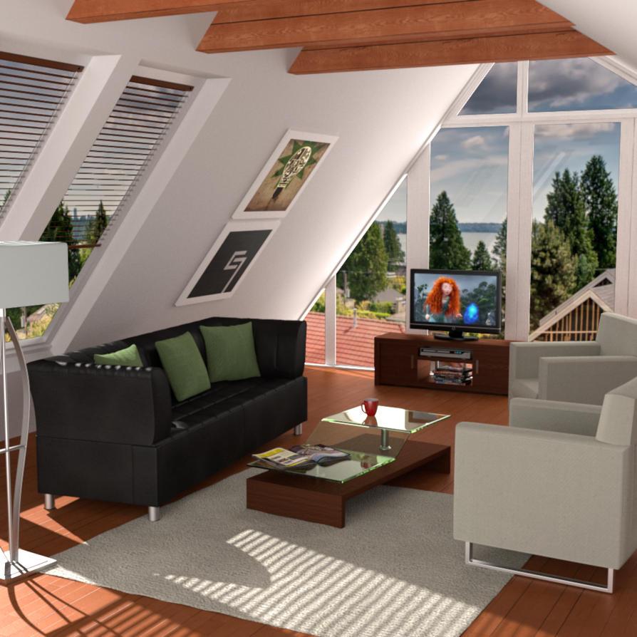 Attic Living Room By AndiDrajan On DeviantArt