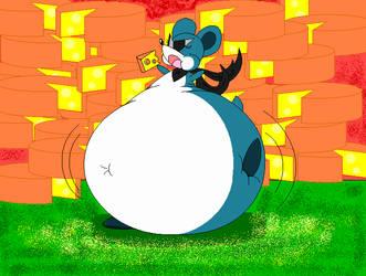 Sneakies Fattening Cheese Raid by dragovian15