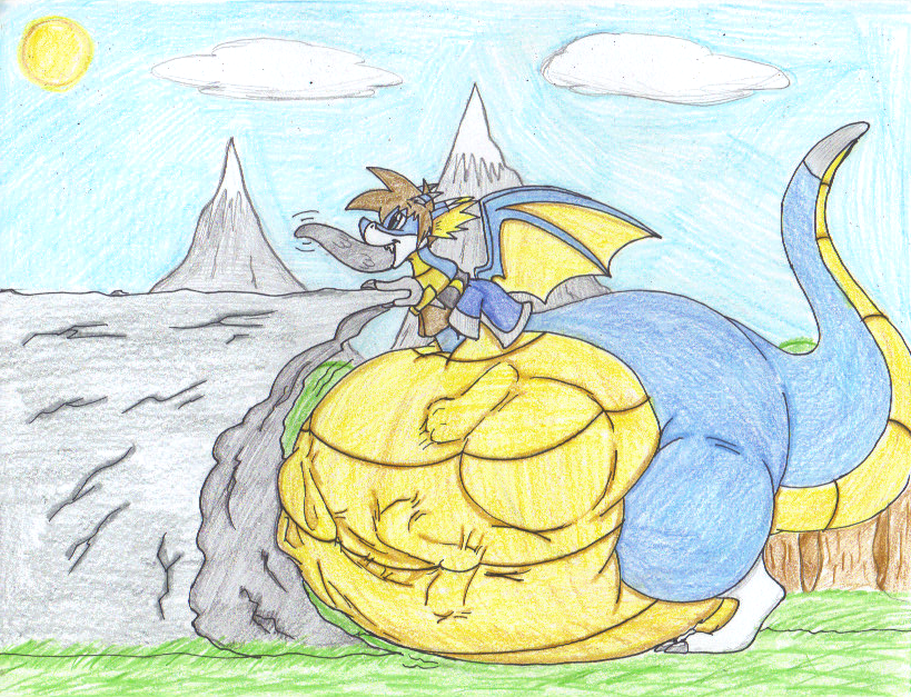 Evil Dragon Devouring by dragovian15