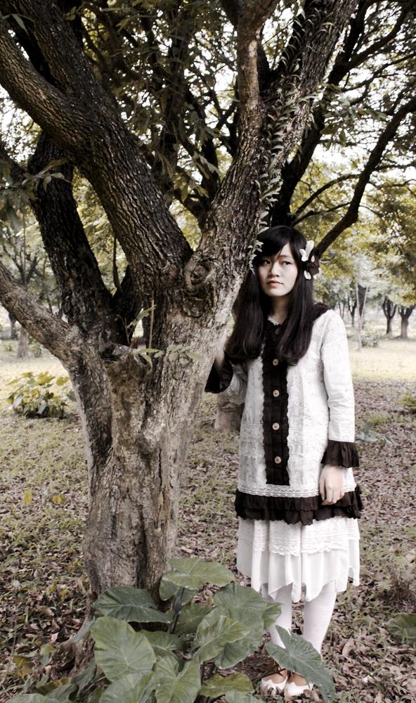 Wild flower - Mori girl dress by canary-309