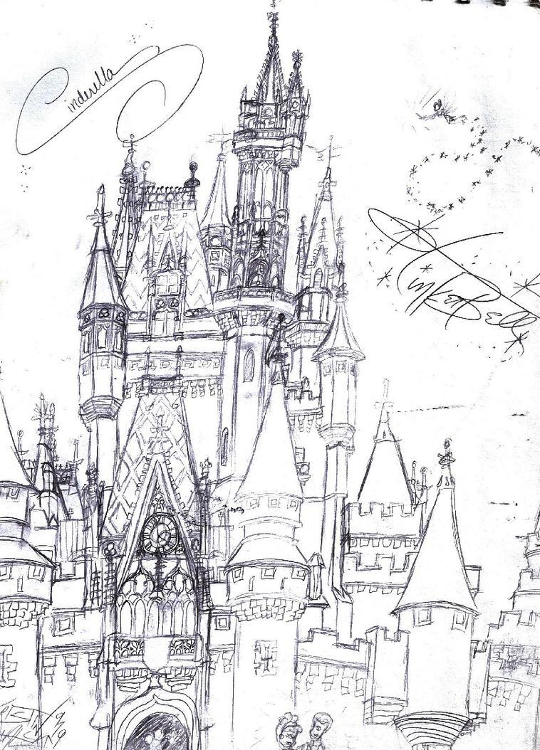 Cinderellas Castle Sketch By Neosun7 On DeviantArt