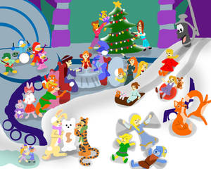 Snow in the House of Mouse gift for GracefulTatian