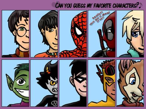 Favorite Book/Comic Character Meme
