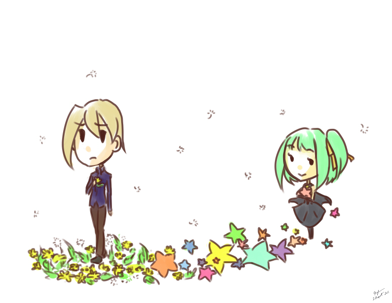 Dandelions and stars by Cotton-Keyk