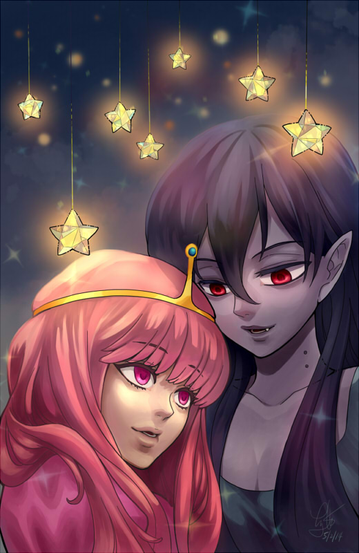 Bubblegum and Marceline - Next to you by ComplexWish