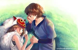 Princess Mononoke and Ashitaka by ComplexWish
