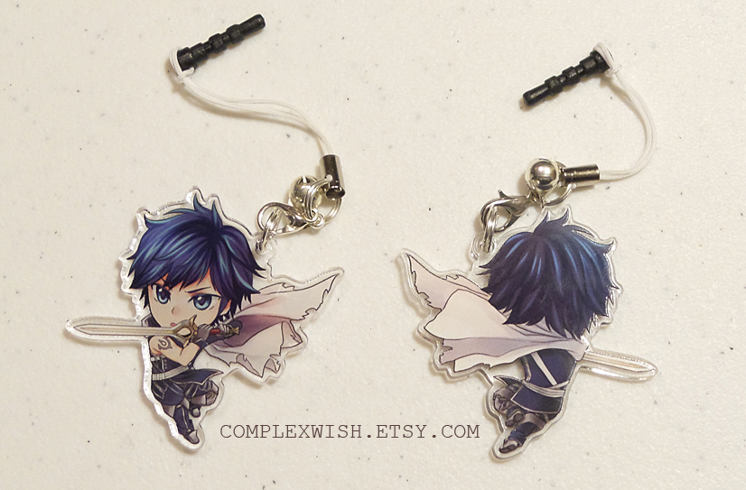 Reversible Fire Emblem charm - Chrom by ComplexWish