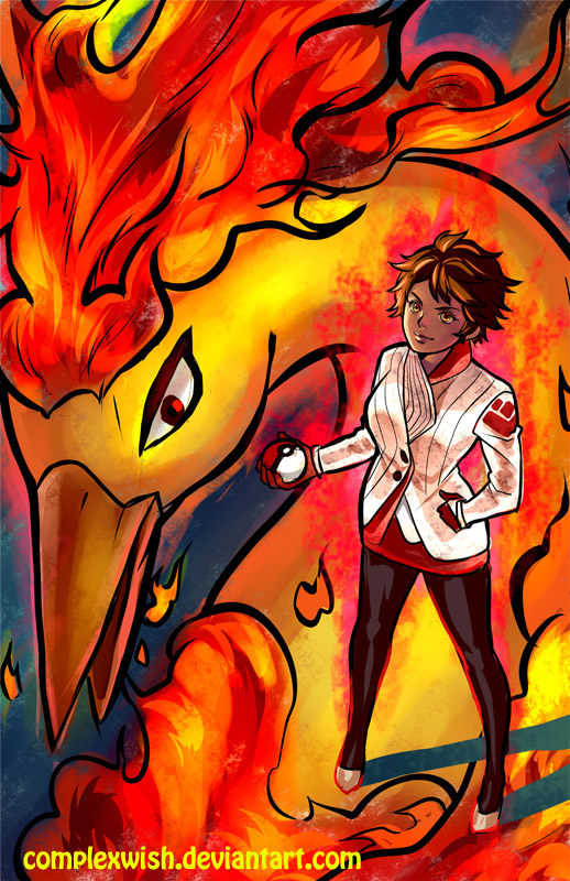 Candela and Moltres by ComplexWish