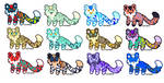 Tiger Adopts (8/12) OPEN by CutiePie-Cat