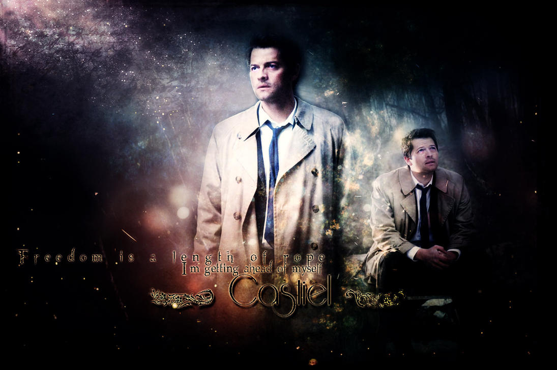 castiel   wallpaper by...