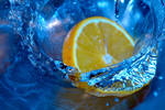 Orange Falls into Water-3 by dany25