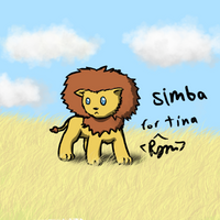 Rawr! I is Simba! (gift for tina) by RymNotrim