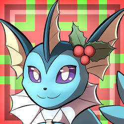 Vaporeon holiday Icon by RymNotrim