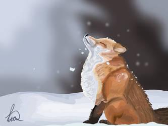 Winter Fox by TheLimeKiwi