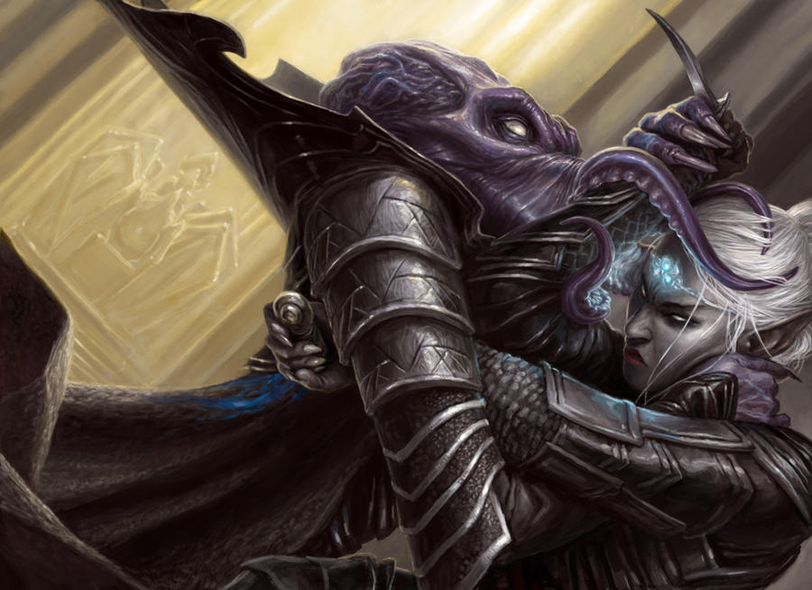 Drow vs Mindflayer Revised by artpox