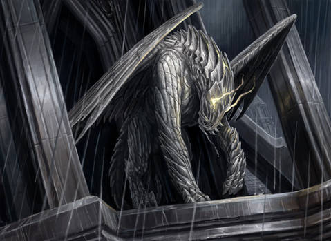 Gargoyle Sentinel by artpox