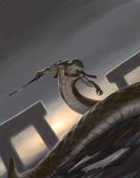 Dark Naga Warlord by artpox