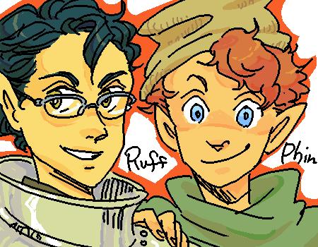 Ruff and Phin by shivainu