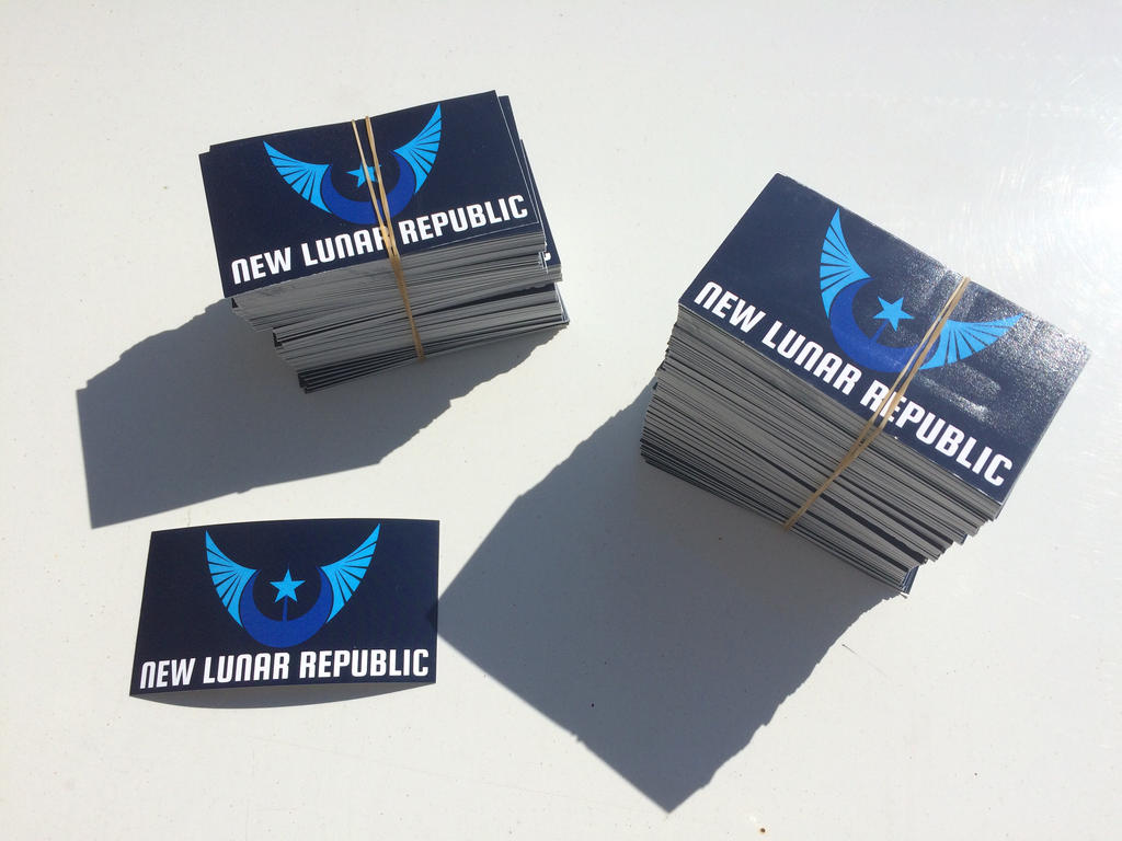 New Lunar Republic Stickers by ojim-Designs