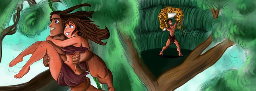 Tarzan and jane by spirit734