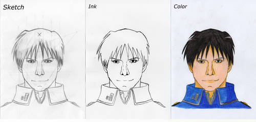 Roy Mustang Fanart Process by Axkarth