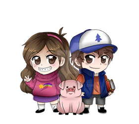 Gravity Falls Mable and Dipper Chibis