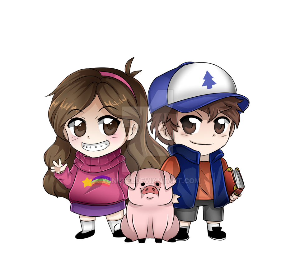Gravity Falls Mable and Dipper Chibis by Yunuyei