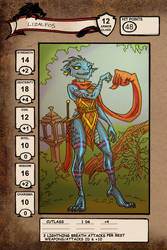 Lizalfos character sheet