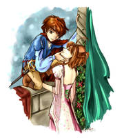 Syaoran and Sakura by nakomiKF