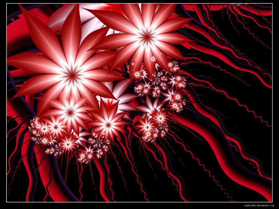 Fractal red by Sophie-Y