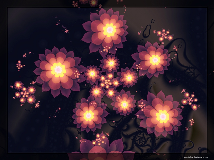 Fractal flowers 2 by Sophie-Y