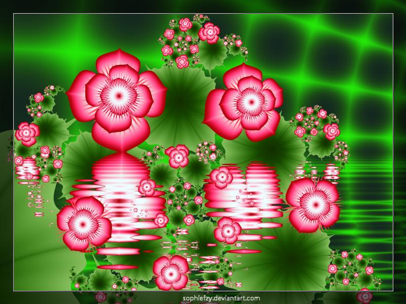 Fractal flowers 8 by Sophie-Y