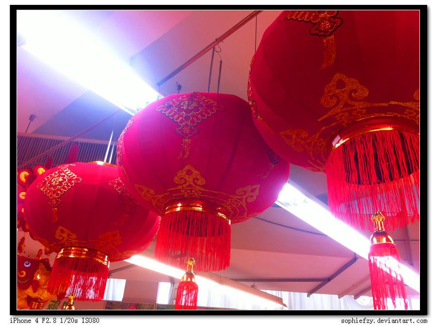 Red lanterns by Sophie-Y