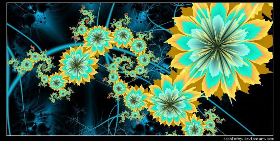 Fractal flowers9 by Sophie-Y
