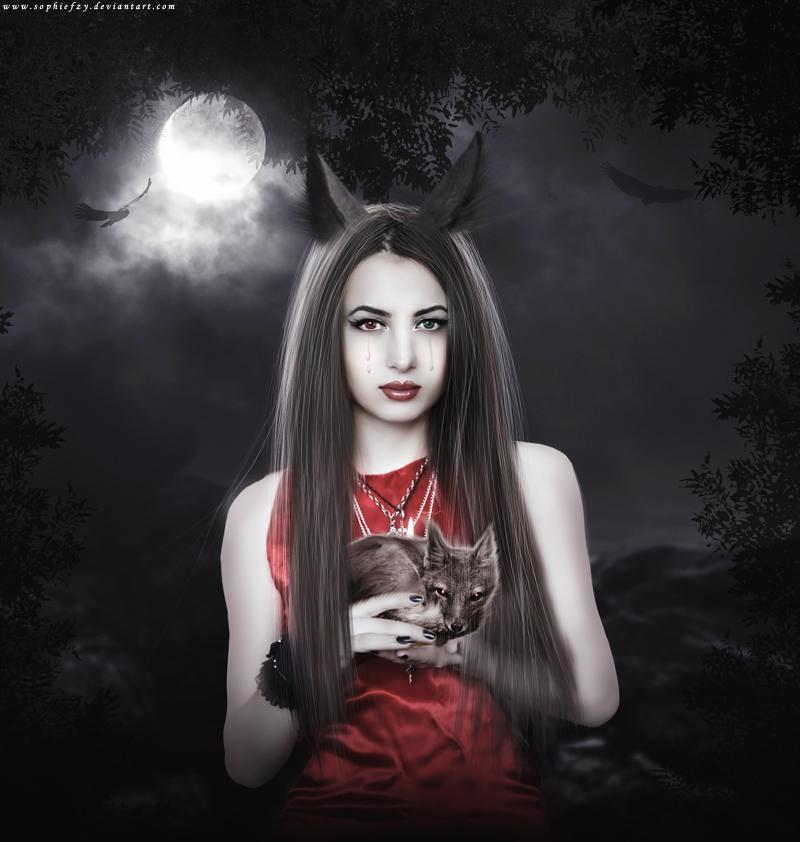 wolf fox by Sophie-Y