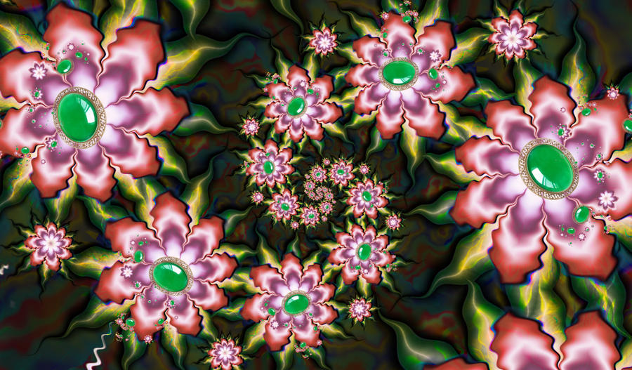 Fractal flower by Sophie-Y