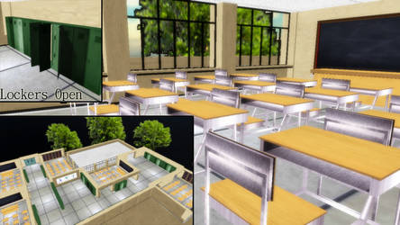 MMD Inside School Download by SachiShirakawa