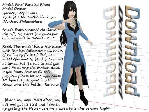 MMD Final Fantasy Rinoa DL by SachiShirakawa