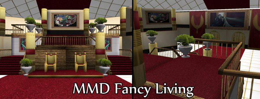 MMD Fancy Living Room Download by SachiShirakawa