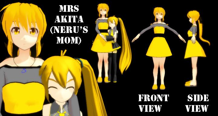 MMD Mrs Akita -Nerus Mom- DL by SachiShirakawa