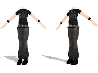 MMD Hip Hop Male Outfit by SachiShirakawa