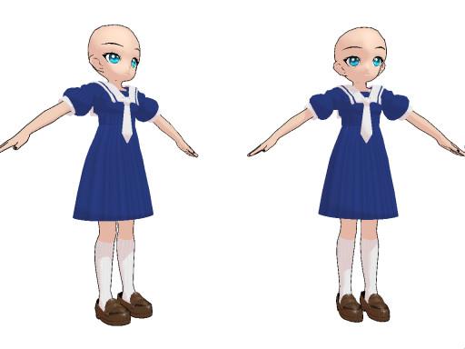 MMD Chibi Elementary Uniform by SachiShirakawa