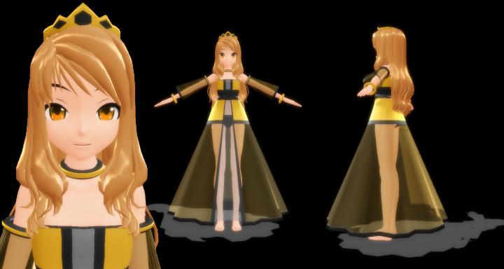 MMD Princess Yuuki Download by SachiShirakawa